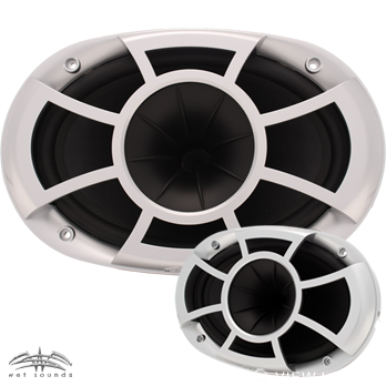 Wet Sounds Revolution Series 6 x 9 inch EFG Pro-Axial Speakers Renewed
